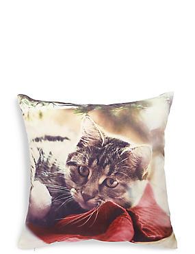 Christmas Cat Print Cushion, , catlanding