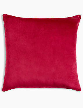 Velvet Cushion, BRIGHT PINK, catlanding