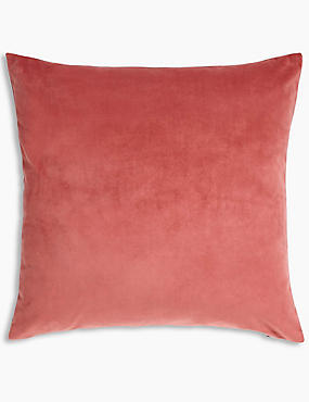 Velvet Cushion, BLUSH PINK, catlanding
