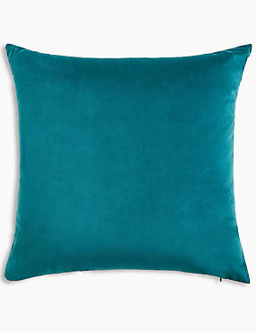 Velvet Cushion, DARK GREEN, catlanding