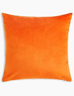 Velvet Cushion, BRIGHT ORANGE, catlanding