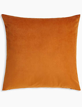 Velvet Cushion, BURNT ORANGE, catlanding