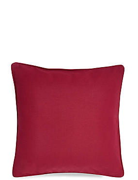Cotton Rib Cushion, DARK RED, catlanding