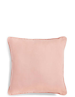 Cotton Rib Cushion, SOFT PINK, catlanding