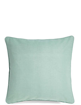 Cotton Rib Cushion, DUSTY BLUE, catlanding