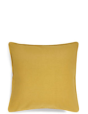 Cotton Rib Cushion, OCHRE, catlanding