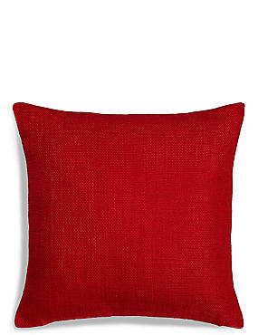 Bantry Weave Cushion, RED, catlanding