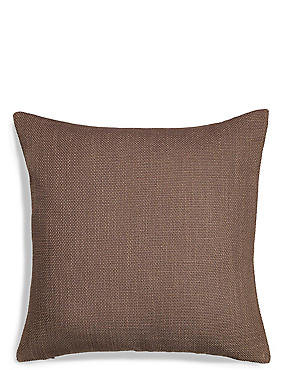 Bantry Weave Cushion, MOCHA, catlanding