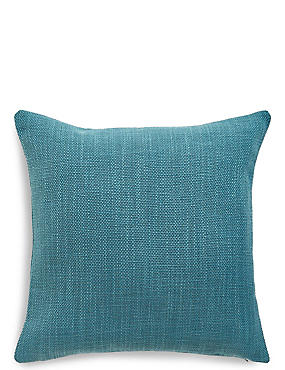 Bantry Weave Cushion, TEAL, catlanding