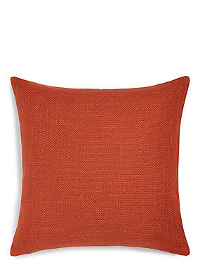 Bantry Weave Cushion, BURNT ORANGE, catlanding
