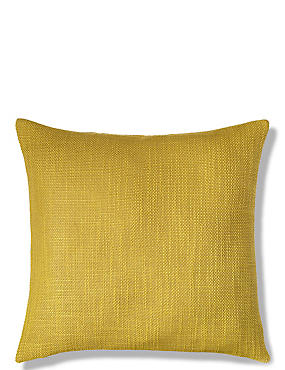 Bantry Weave Cushion, OCHRE, catlanding
