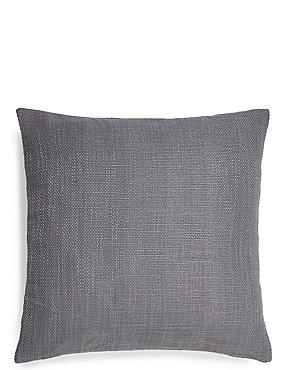 Bantry Weave Cushion, DARK GREY, catlanding