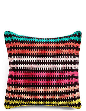 Bright Striped Cushion, , catlanding