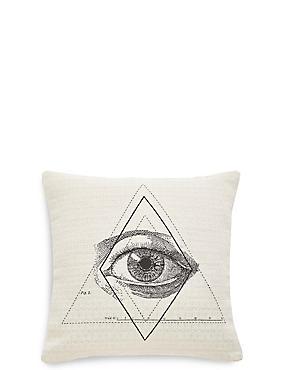 Eye Jacquard Cushion, , catlanding