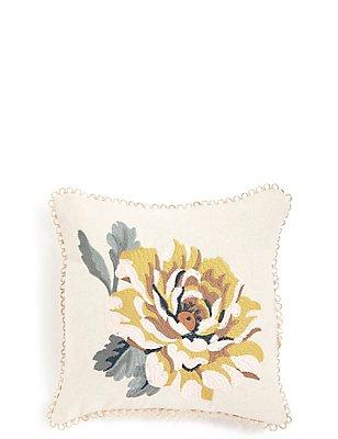 Mini Embroidered Flower Cushion, , catlanding