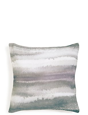 Watercolour Lines Print Cushion, , catlanding