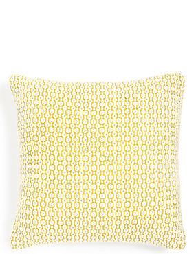 Oval Texture Cushion, OCHRE, catlanding
