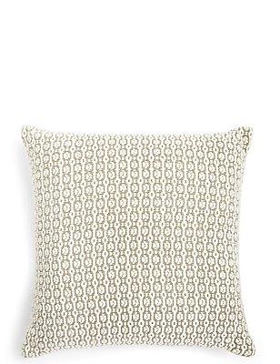 Oval Texture Cushion, NATURAL MIX, catlanding