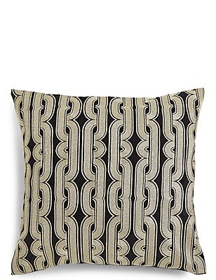 Metallic Embroidered Cushion, , catlanding