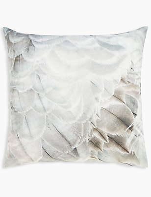 Feather Print Oversize Cushion, , catlanding