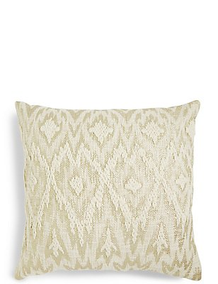 Metallic Print Embroidered Cushion, , catlanding