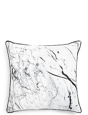 Marble Effect Print Cushion, , catlanding