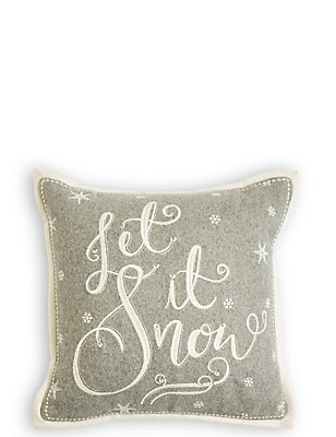 Let It Snow Light-up Cushion, , catlanding