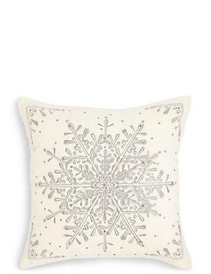 Beleuchtetes Kissen mit Schneeflocke, , catlanding