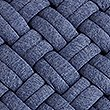 Jersey Weave Cushion, BLUE MARL, swatch
