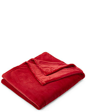 Soft Fleece Throw, RED, catlanding