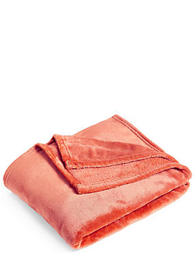 Soft Fleece Throw, TERRACOTTA, catlanding