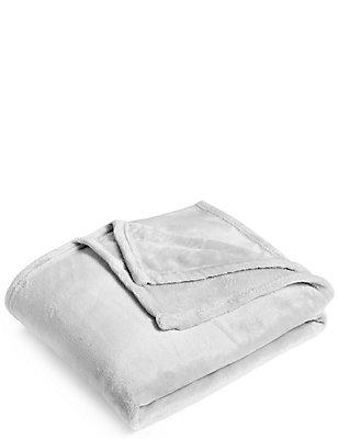 Soft Fleece Throw, GREY, catlanding