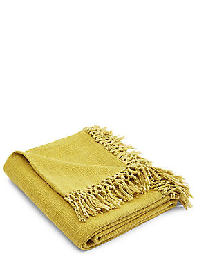 Weave Throw, OCHRE, catlanding