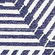 Loft - Manta de ondas geométricas, MEZCLA DE TONOS MARINO, swatch