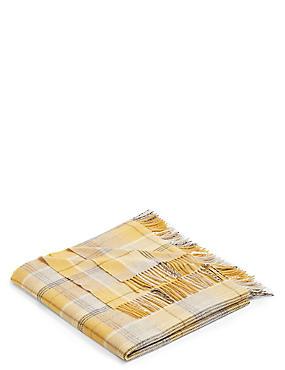 Plaid en laine à carreaux, , catlanding