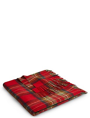 Tartan Check Throw, , catlanding
