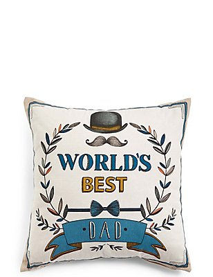 World's Best Dad Cushion, , catlanding