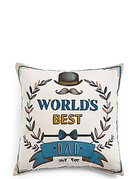 World's Best Dad Cushion, , catlanding