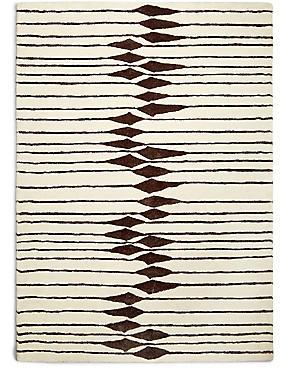 Tribal Striped Rug, BLACK MIX, catlanding