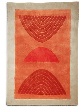 Conran Sketch Rug, ORANGE MIX, catlanding