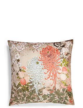 Hana Floral Print Cushion, , catlanding