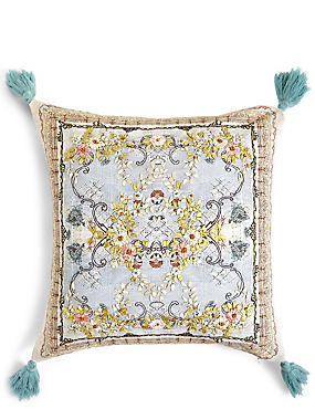 Lace Embroidered Cushion, , catlanding