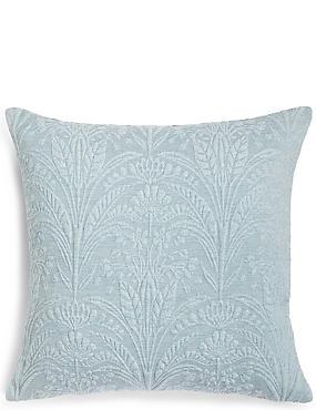 Retro Damask Cushion, DUCK EGG, catlanding
