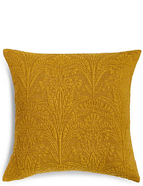 Retro Damask Cushion, OCHRE, catlanding