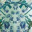Mirrored Birds Embroidered Cushion, GREEN MIX, swatch