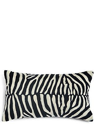 Zebra Crewel Work Cushion, , catlanding