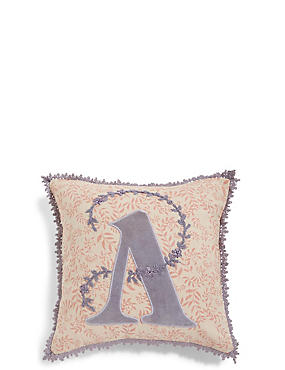 Alphabet A Cushion, , catlanding
