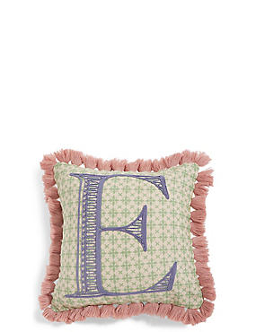 Alphabet E Cushion, , catlanding