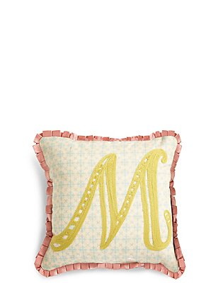 Alphabet M Cushion, , catlanding