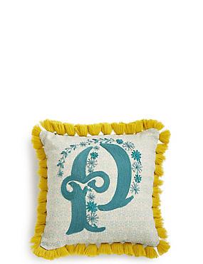 Alphabet P Cushion, , catlanding